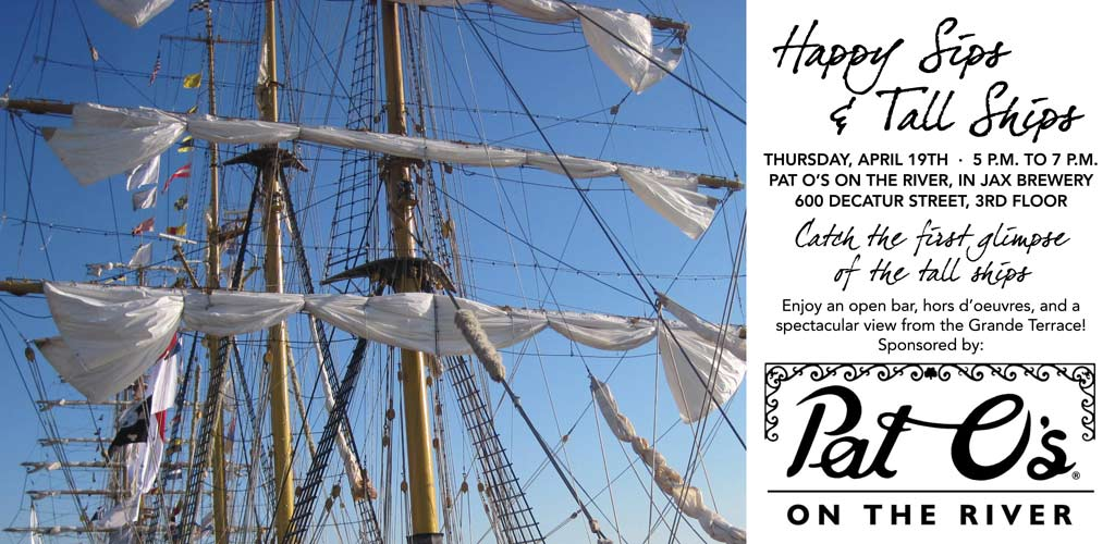 Happy Sips & Tall Ships:  Spring Membership Event